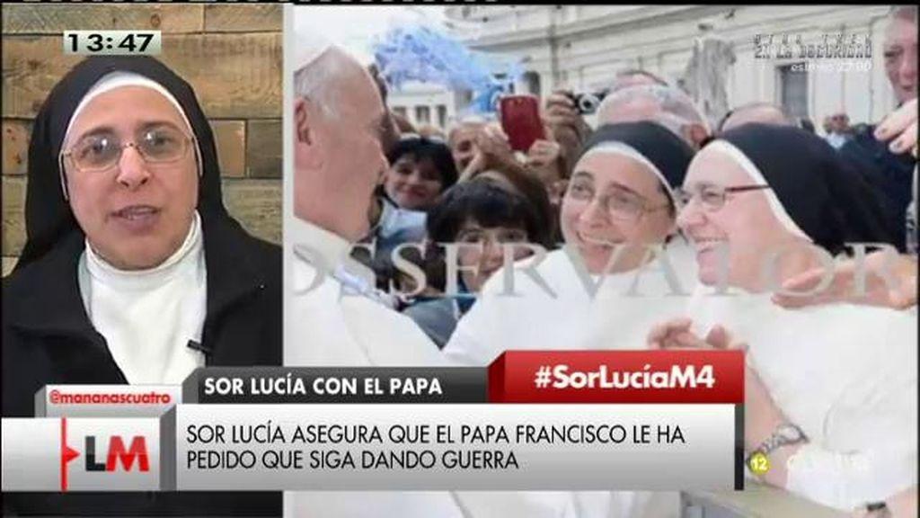 """Sor Lucía Caram: """"El Papa Francisco me dijo: 'Quiero que sigas haciendo lío"""""""