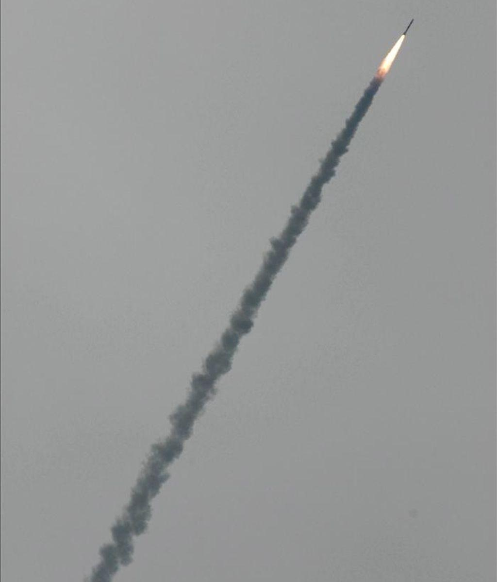 Un vehículo de lanzamiento de un satélite indio. EFE/Archivo