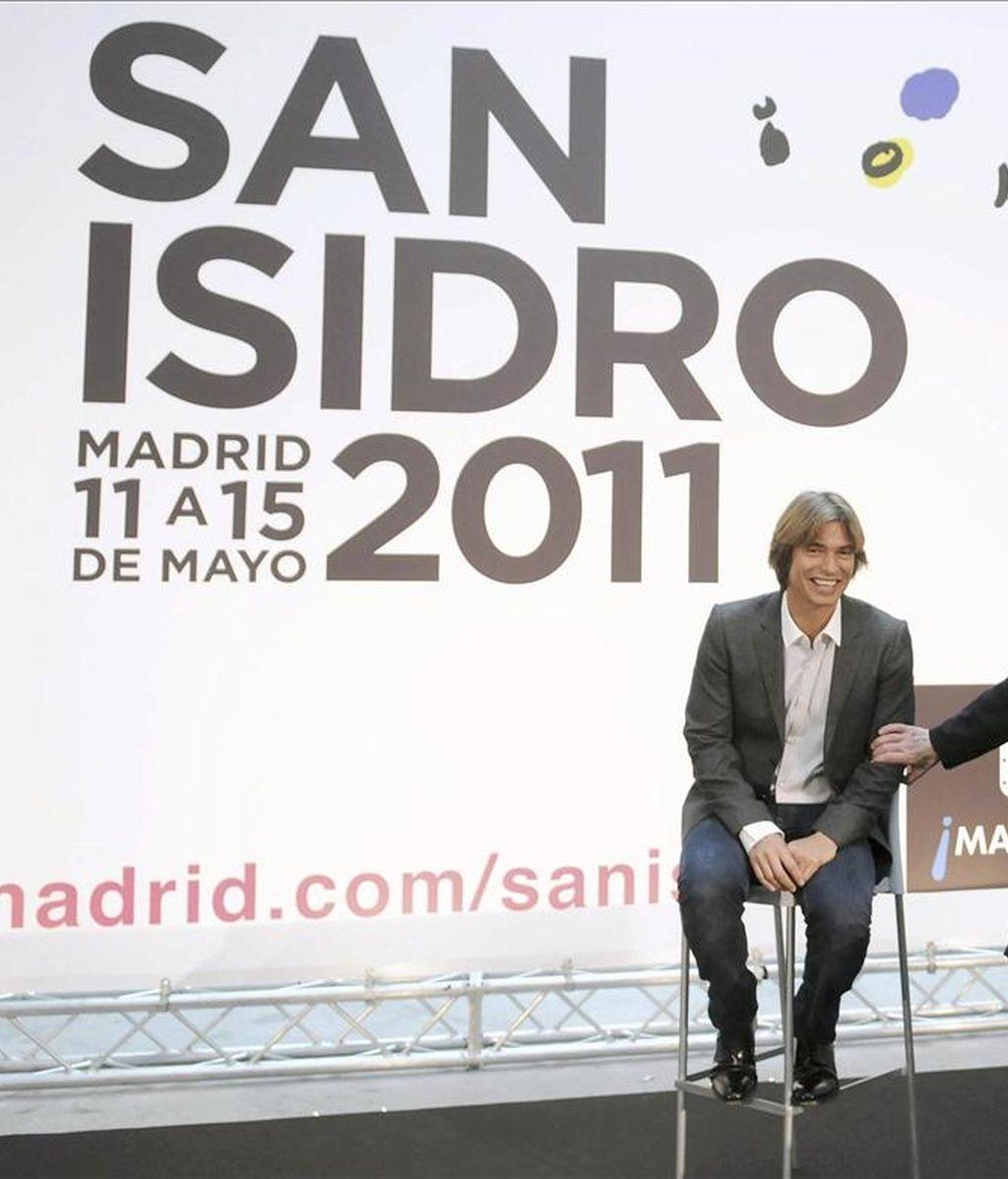 En lA IMAGEN, EL cantautor venezolano Carlos Baute durante la presentación de las actividades diseñadas con motivo de las fiestas de San Isidro. EFE/Archivo