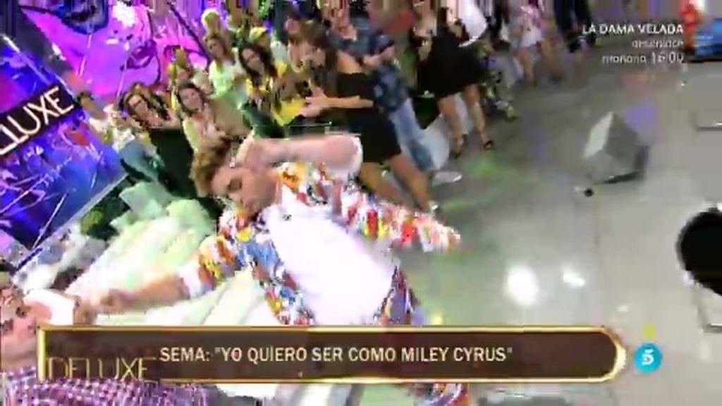 El momentazo del 'Deluxe': Sema se atreve en directo…¡con una imitación de Miley Cyrus!