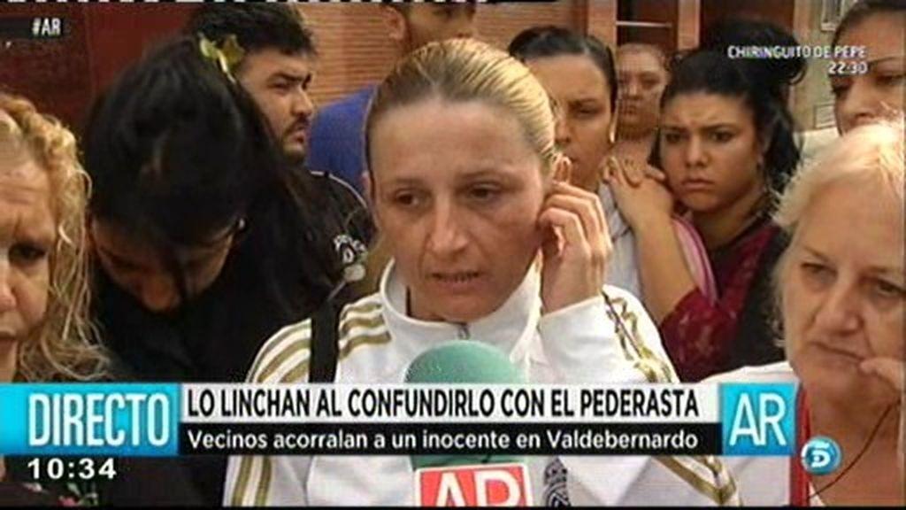 """Vecina de Valdebernardo: """"Una persona que no hace nada no sale corriendo"""""""