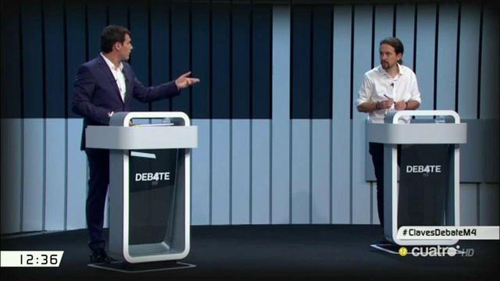 El 'duelo' de Rivera e Iglesias en el debate