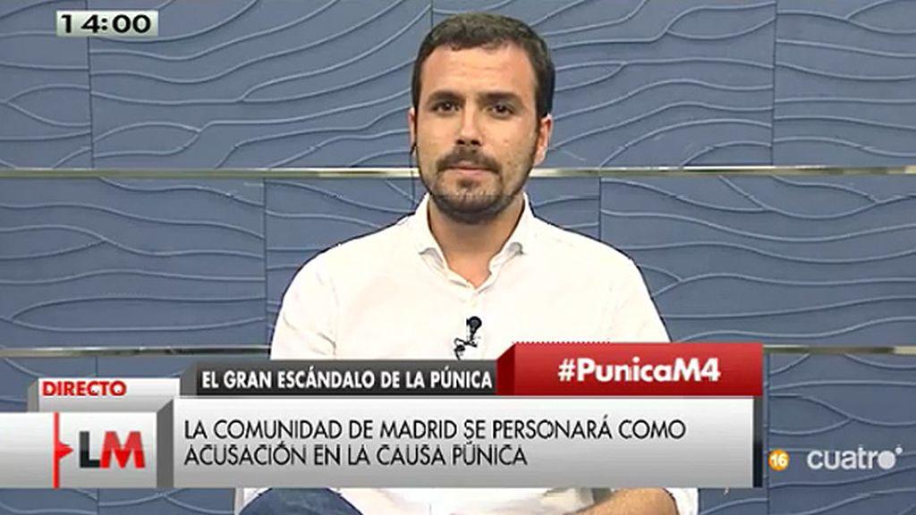 """A. Garzón: """"Hay una mayoría absoluta del PP que les blinda para protegerse"""""""