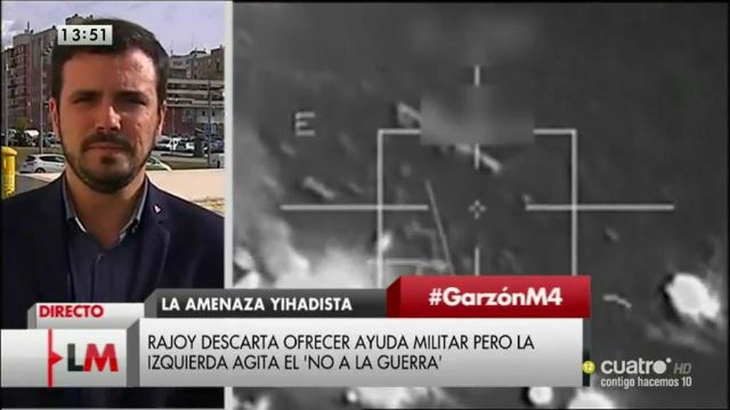 La entrevista a Alberto Garzón, a la carta