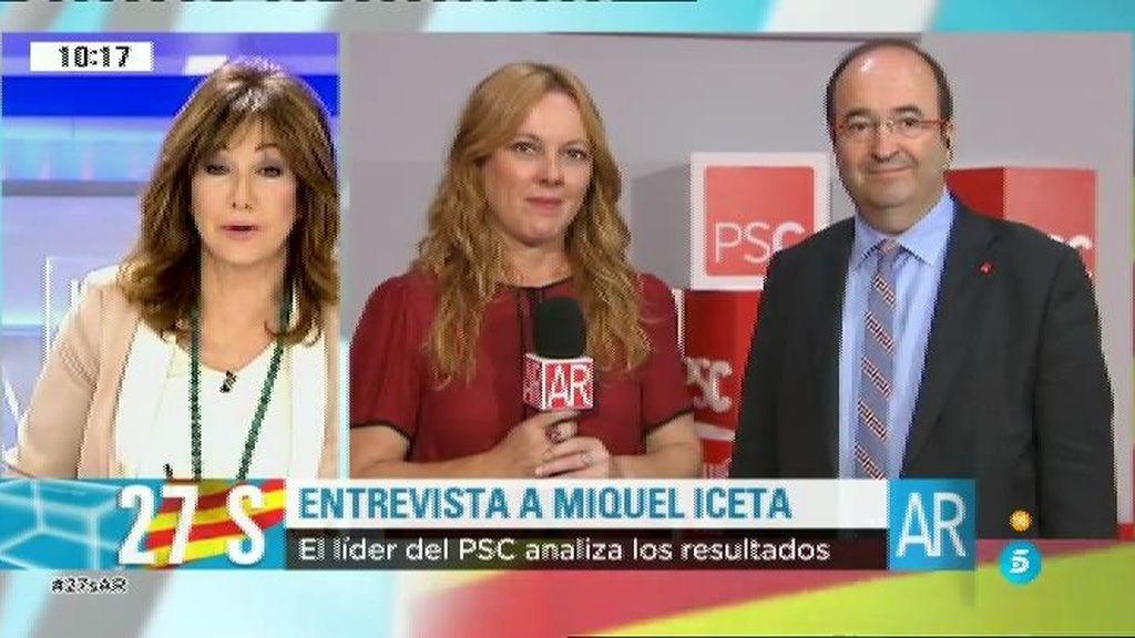 """Miquel Iceta: """"Los resultados han sido razonablemente positivos porque las expectativas eran muy malas"""""""