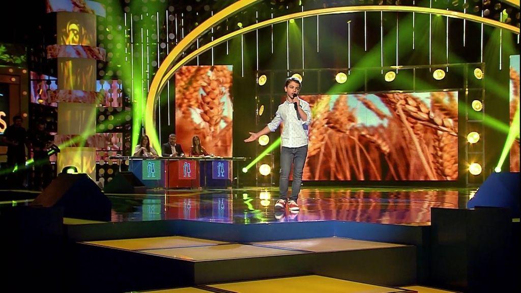 La actuación de Iker: 'Un beso y una flor'