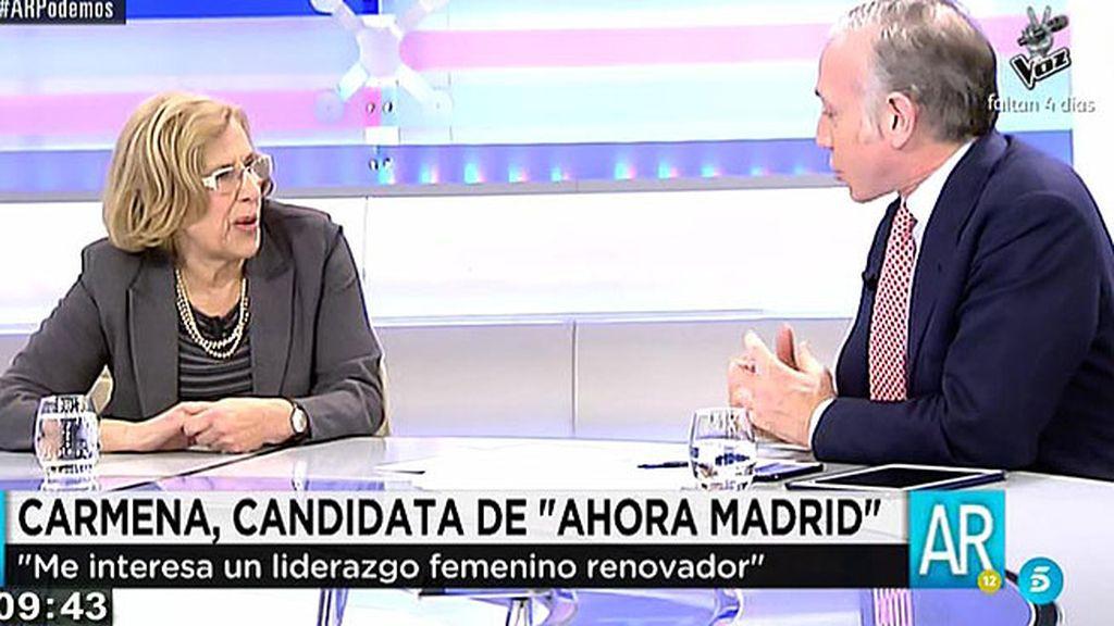 """Carmena, sobre los problemas de Monedero con Hacienda: """"Creo que eso no inhabilita para la actividad política"""""""