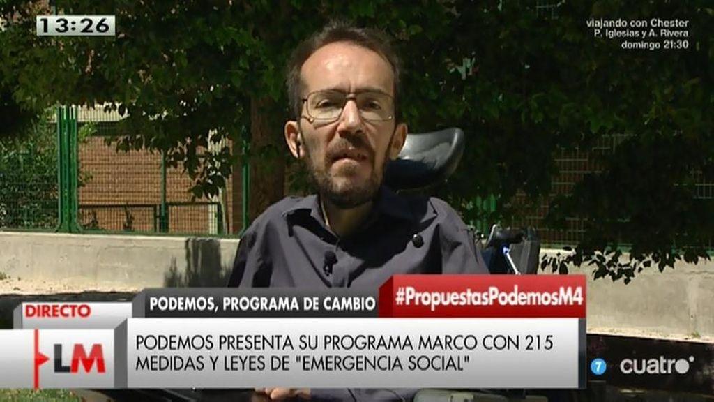La entrevista íntegra de Pablo Echenique