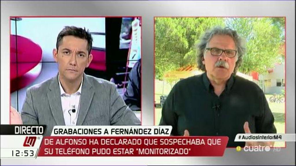 """Joan Tardà, sobre la polémica con Fdez. Díaz: """"Estamos aterrorizados ante esta vulneración de los derechos civiles"""""""