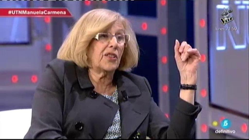 "Manuela Carmena: ""Yo no tengo nada que ver con Podemos"""