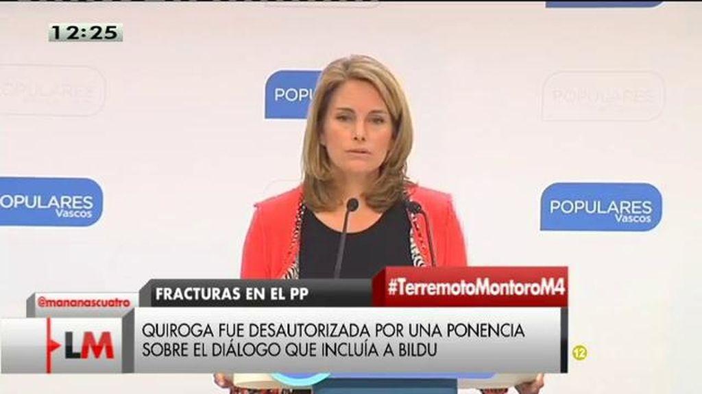 Quiroga dimite como presidenta del PP vasco