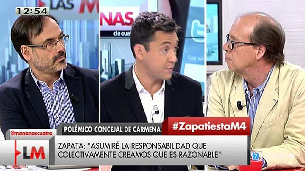 """Jaime González: """"Me preocupa más que Monedero justifique a Zapata que casi los tuits de Zapata"""""""
