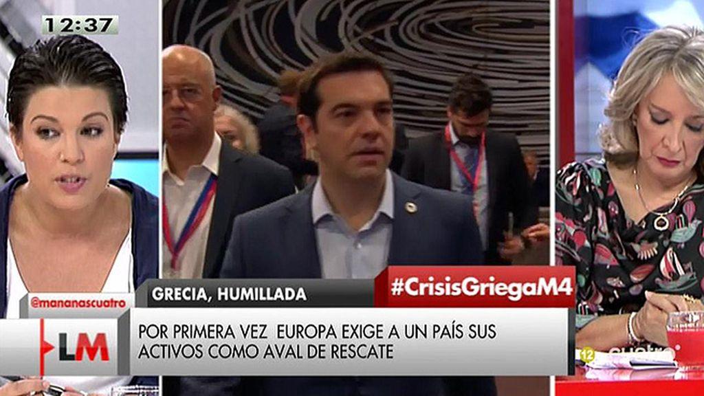 """Beatriz Talegón, sobre Grecia: """"El objetivo es hacer caer un gobierno que cuestiona las políticas de la Troika"""""""