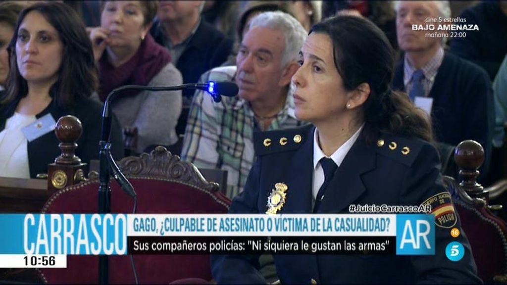 """Los compañeros de Raquel Gago, en su declaración: """"No le gustaban las armas"""""""