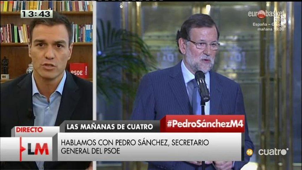 """Pedro Sánchez: """"Rajoy gobierna solo para la extrema derecha de su partido"""""""