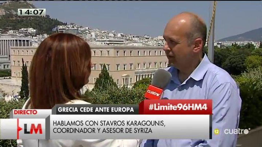"Stavros Karagounis: ""Al gobierno griego le interesa un acuerdo con Europa"""
