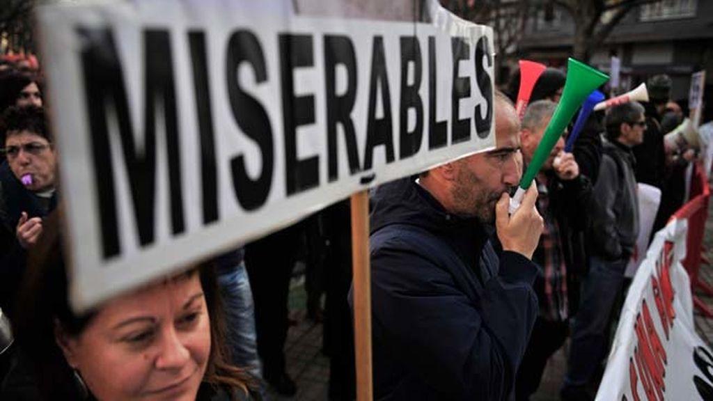 Enfrentamientos en Pamplona por la manifestación contra la corrupción