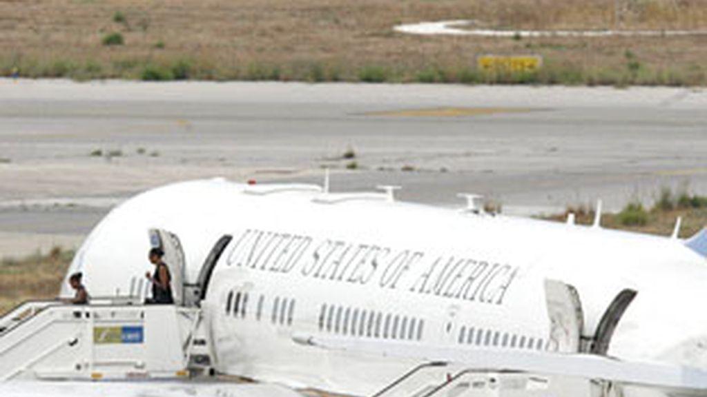 Imagen de archivo del avión de la primera dama de EE.UU., Michelle Obama. Vídeo: Informativos Telecinco