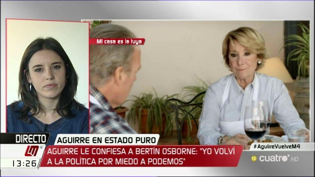 """Montero, de Aguirre: """"Sólo puedo sentir tristeza de que la señora condesa no respete y no dé valor a la justicia"""""""