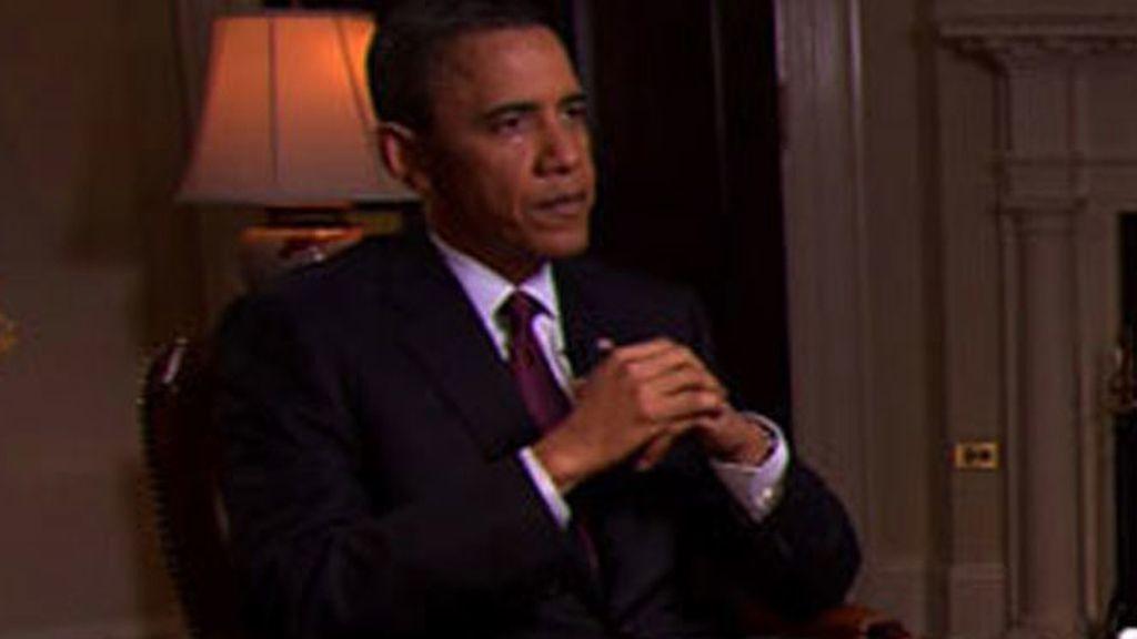 Obama en una entrevista concedida a la televión CBS