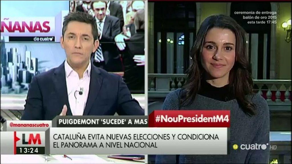 """Arrimadas: """"Cataluña no va a poder crear un Banco Central, se saldría del euro"""""""