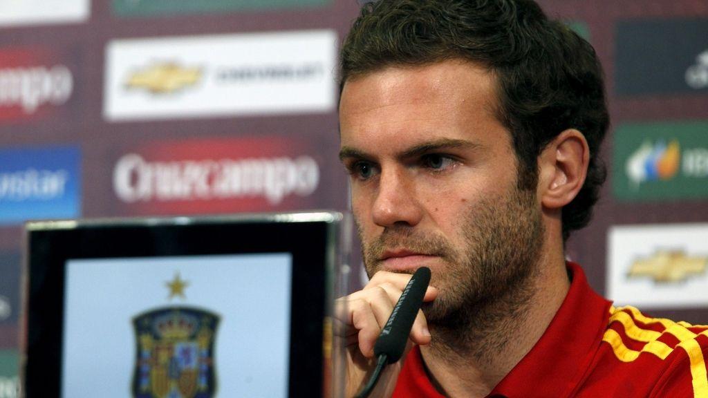 Juan Mata, en rueda de prensa