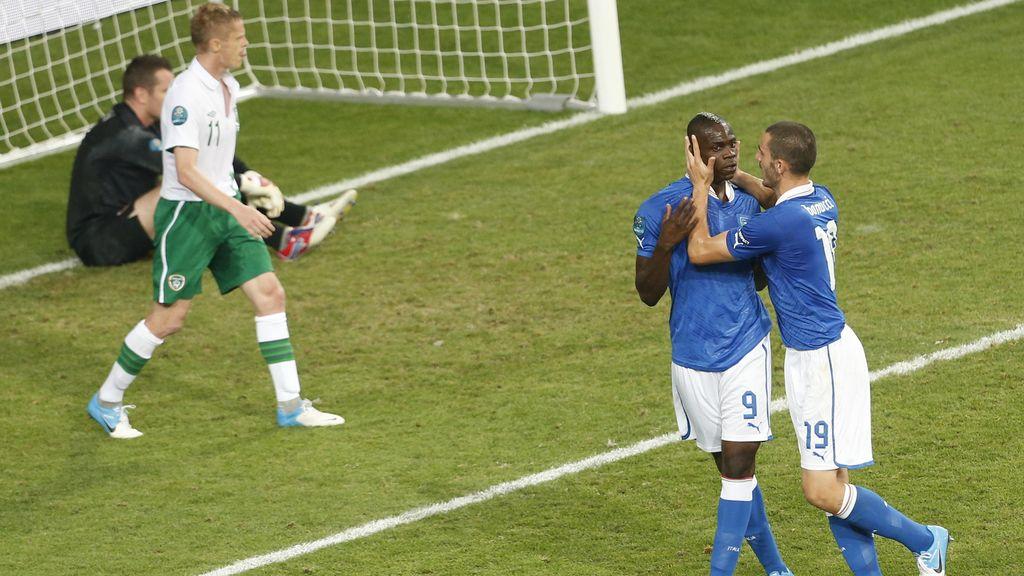 Italia - Irlanda, en imágenes
