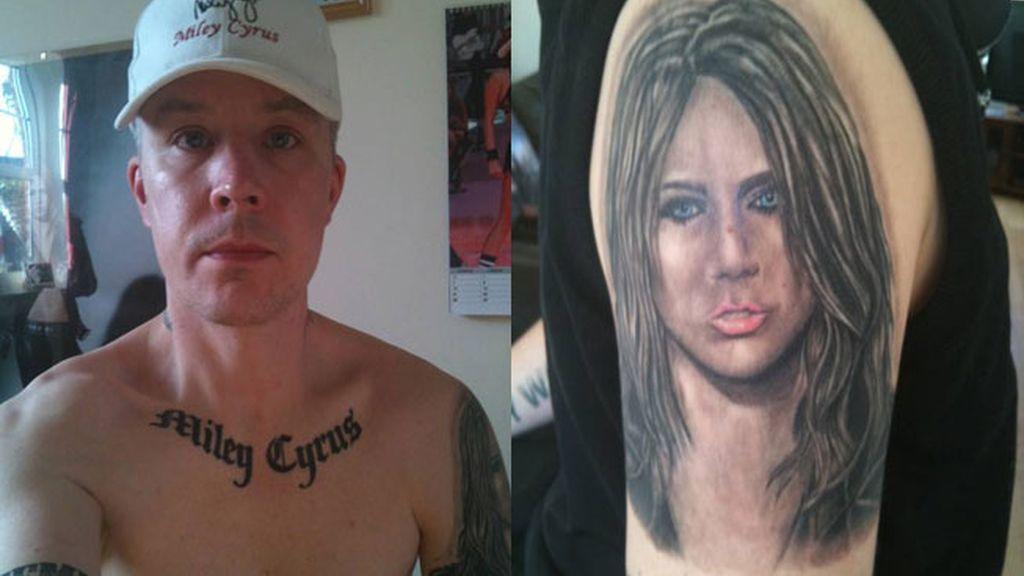 Miley Cyrus tiene un admirador que le dedica 15 tatuajes