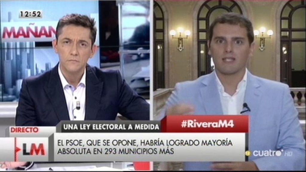 """Albert Rivera: """"La reforma electoral del PP es una cacicada en toda regla"""""""