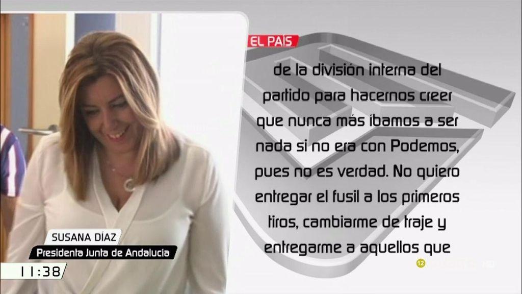 """El audio filtrado de Susana Díaz: """"Pido unidad, responsabilidad, compañero Miquel"""""""