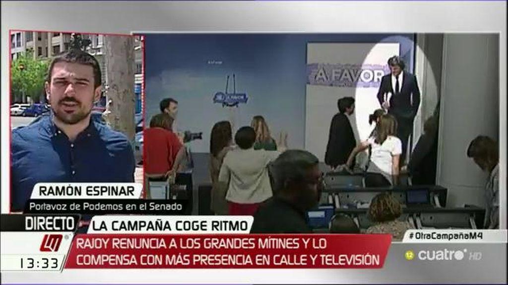 "Ramón Espinar: ""El PP ha decidido con qué música va a desfilar fuera de la Moncloa"""