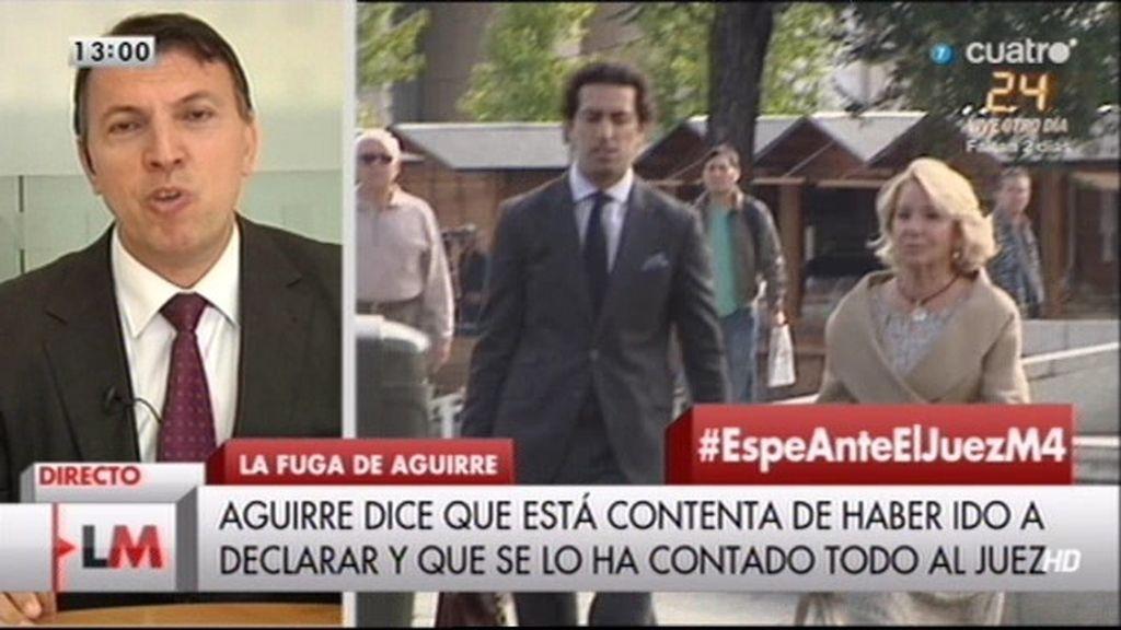 """Joaquim Bosch, sobre Aguirre: """"La pena puede ir de 200 euros a 1 año de cárcel"""""""