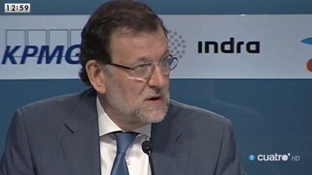 """Rajoy: """"Nos ha hecho daño la corrupción y el martilleo continuado en las televisiones"""""""