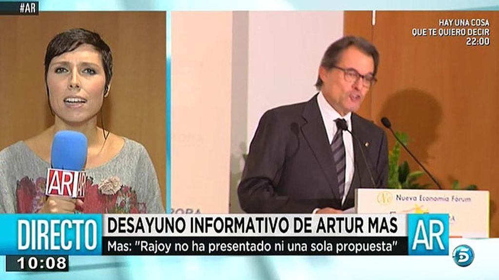 """Artur Mas: """"Cataluña está defendiendo un derecho natural con pulcritud y respeto legal"""""""