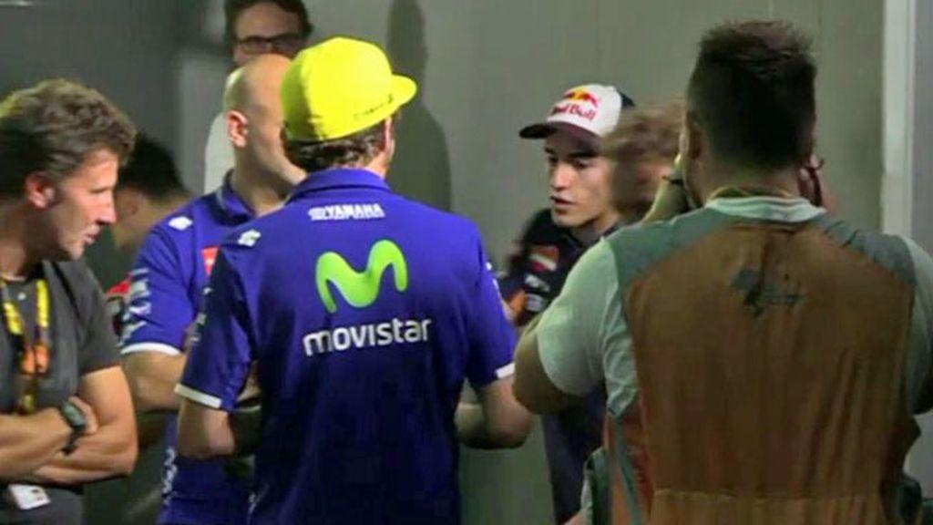 ¡Donde todo empezó! Así fue el saludo con felicitación de Valentino Rossi a Márquez