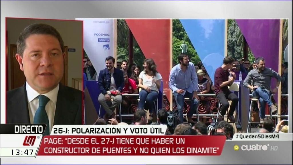 La entrevista de García-Page, a la carta