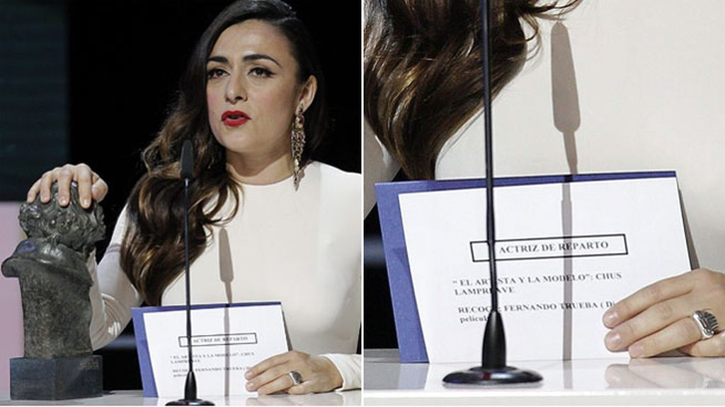 Candela Peña agradece su premio Goya