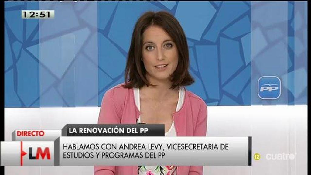 """Andrea Levy (PP), sobre la corrupción: """"Las limpiezas ya se han hecho"""""""