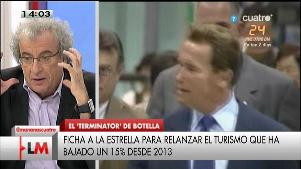 """J.M. Calleja: """"Que venga Schwarzenegger los días pares y Rambo los impares"""""""