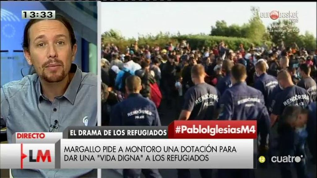 """Pablo Iglesias: """"La política exterior europea ha confiado más en bombas que en la ayuda humanitaria"""""""