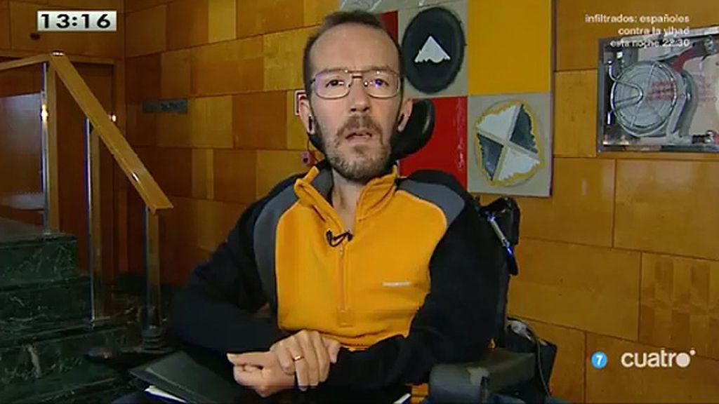 """Pablo Echenique: """"El PP nunca ha dejado de funcionar como una organización criminal"""""""