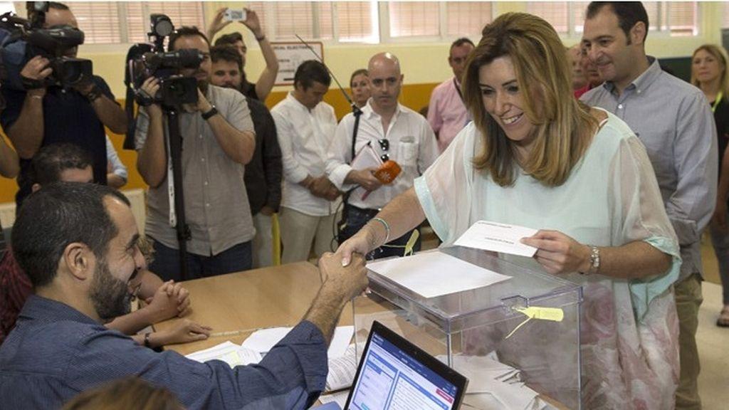 "Susana Díaz: ""Hoy va a ser un día bonito, un día bueno para los andaluces"""