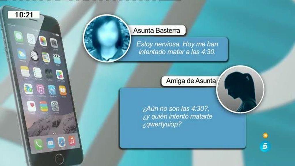 """Los whatsapp que envió Asunta a su amiga: """"Han intentado matarme"""""""