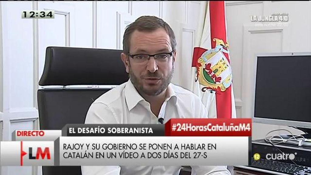 """Javier Maroto, de las disculpas de Alfred Bosch: """"Sus disculpas son bienvenidas pero las tiene que aceptar el pueblo catalán"""""""