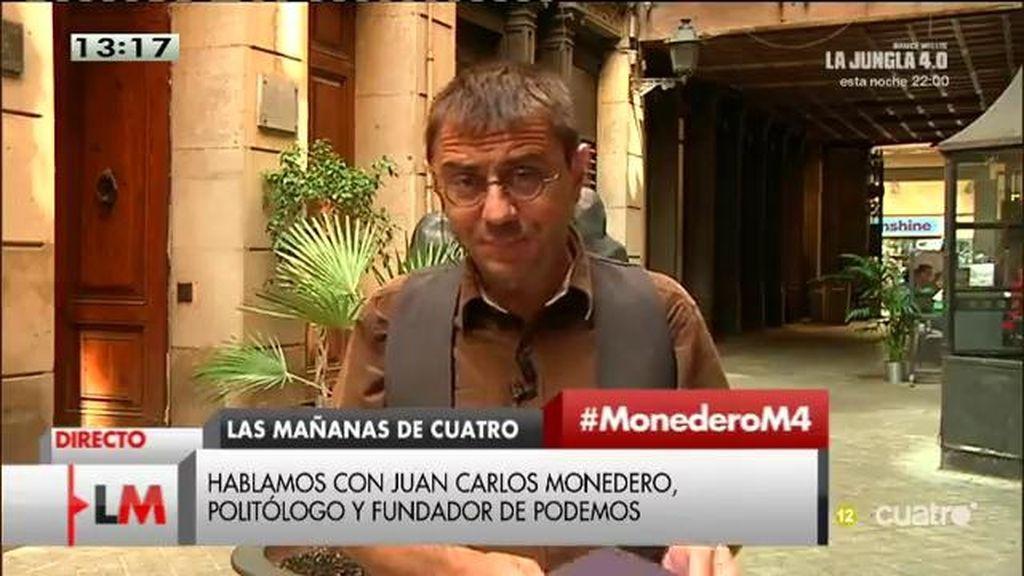 """Juan Carlos Monedero: """"Los que se exceden con las banderas hacen el ridículo"""""""