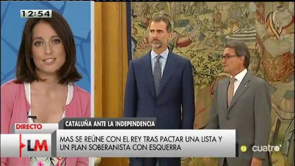 """Andrea Levy, sobre Mas: """"Espero que la reunión con el jefe del Estado sea fructífera, a lo mejor él le hace entrar en razón"""""""