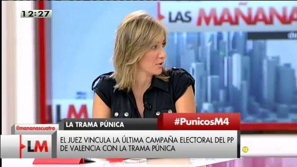"""Tania Sánchez: """"Empieza a parecer que nunca ha habido otra cosa más que financiación irregular del PP"""""""