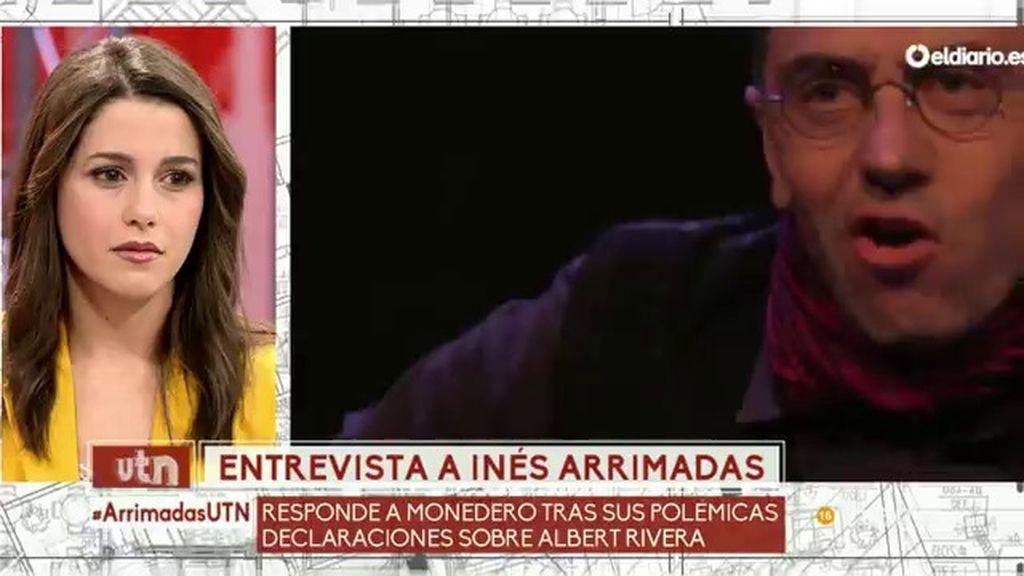 """Arrimadas califica de """"vergonzosas"""" las declaraciones de Monedero sobre Rivera"""
