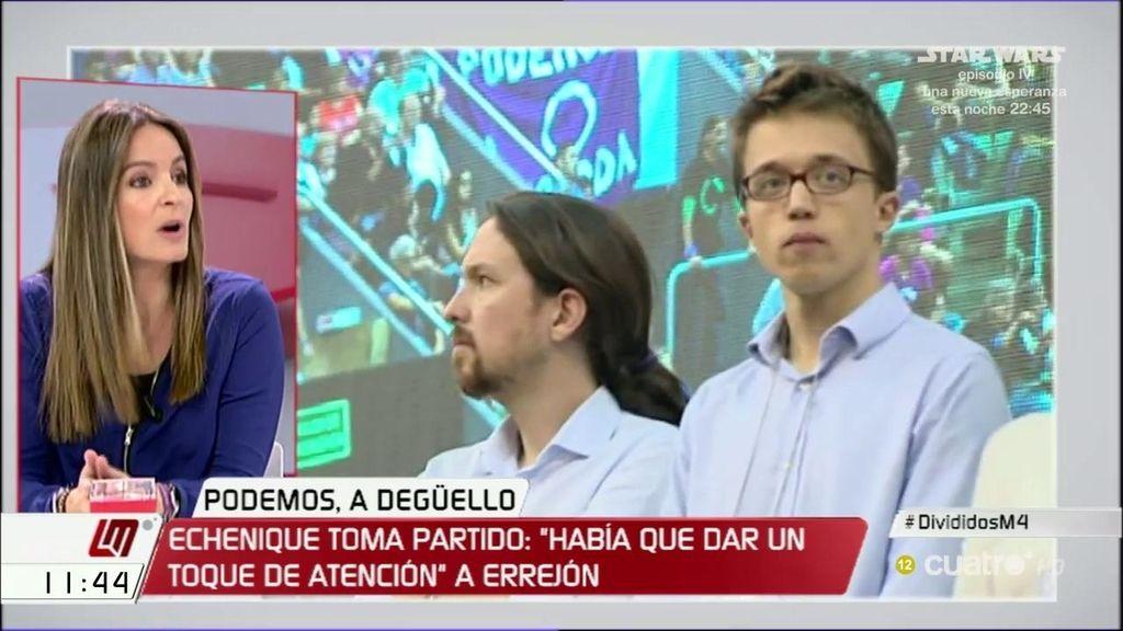 """Ángela Ballester: """"Este tipo de campañas dañan a Podemos y a Pablo Iglesias"""""""