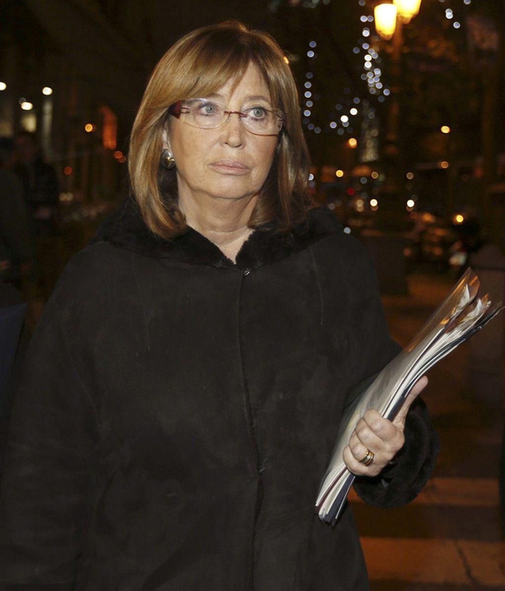 Irene Rigau a la salida del ministerio